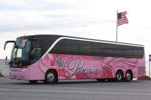 Premier Motorcoach pink Lady Bus