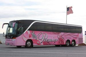 Premier Motorcoach pink Lady Bus